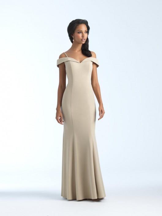 Allure 1560 off shoulder crepe bridesmaid gown french novelty allure 1560 off shoulder crepe bridesmaid gown junglespirit Choice Image