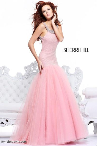 Sherri Hill 1565 Mermaid Gown with Open Back: French Novelty
