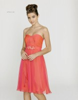Alexia Designs 158L Iridescent Chiffon Long Bridesmaid Dress image