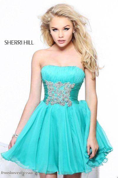 Short Teal Formal Dresses