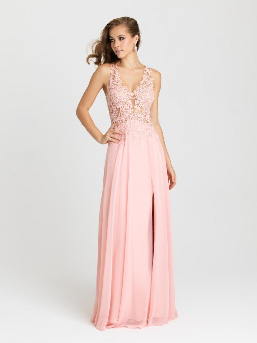 Madison James 16 327 Boho Chic Prom Gown French Novelty