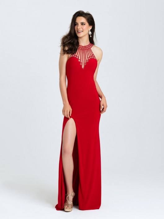 Madison James 16 402 Art Deco Prom Gown French Novelty