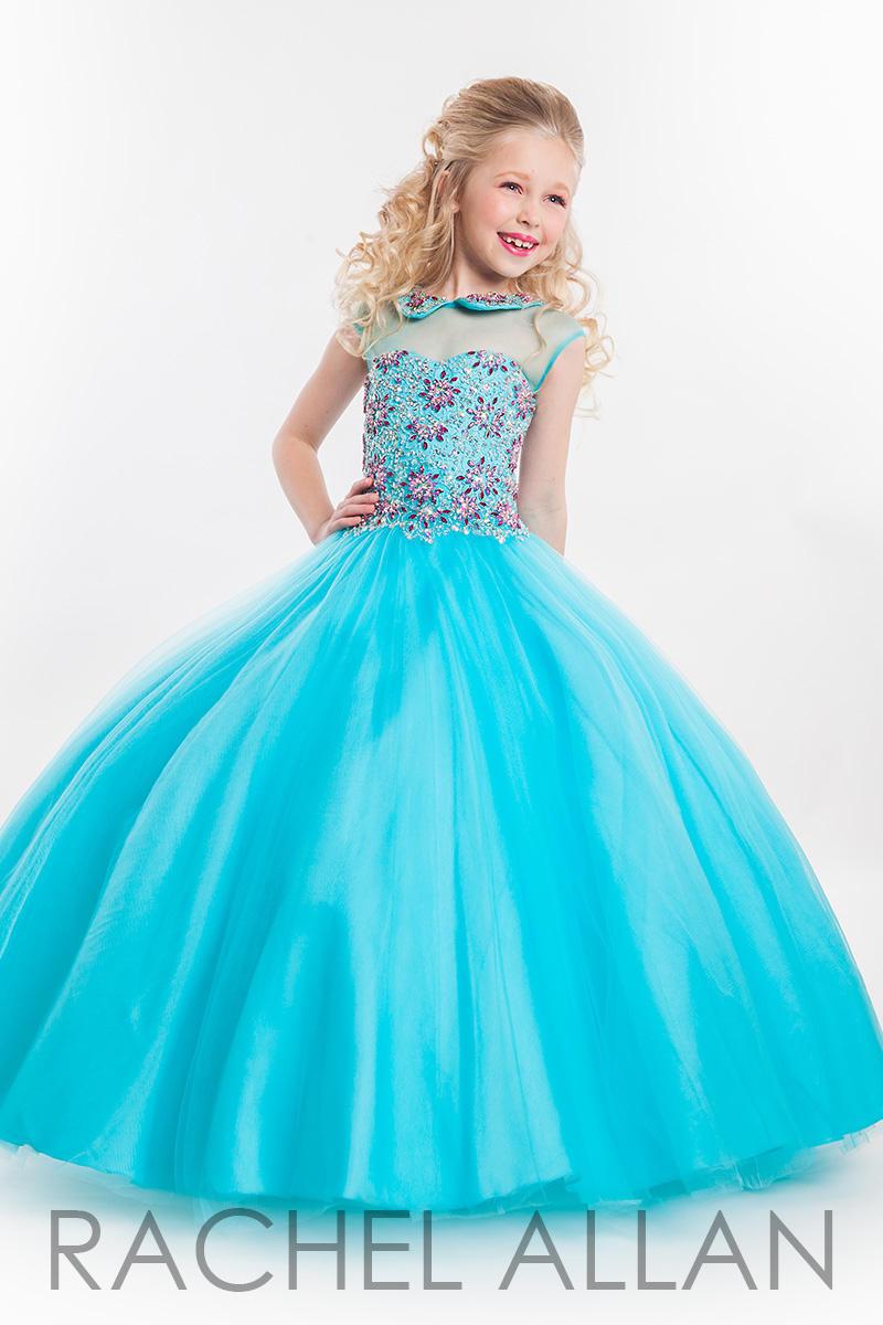 Rachel Allan Perfect Angels 1600 Girls Pageant Dress: French Novelty