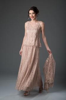 5d60ac8668a Soulmates 1602 Mother of the Bride 3pc Lace Dress