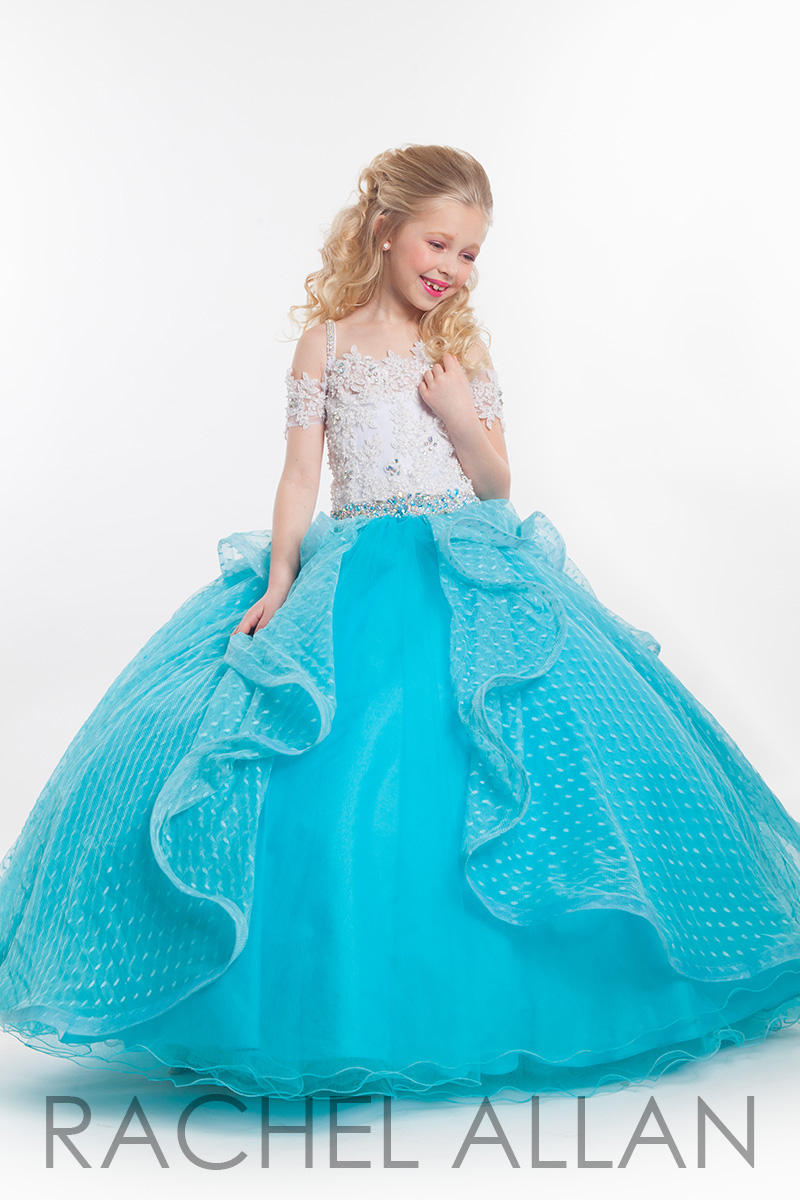 Rachel Allan Perfect Angels 1603 Girls Lace Pageant Dress: French ...