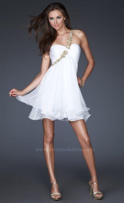 Prom Dresses Short on La Femme Short Grecian Prom Dress 16060 Image