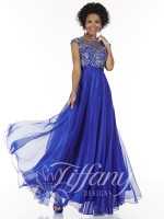 Tiffany Designs 16062 Lace Evening Dress image