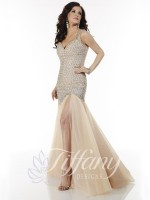 Tiffany Designs 16069 AB Stone Trumpet Gown image