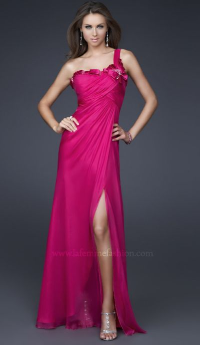 Dancing With The Stars By La Femme Fuchsia Evening Dress 16077