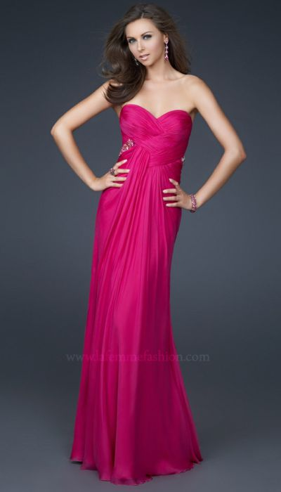 Dancing With The Stars By La Femme Silk Chiffon Prom Dress 16081