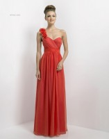 Alexia Designs 160L Iridescent One Shoulder Long Bridesmaid Dress image