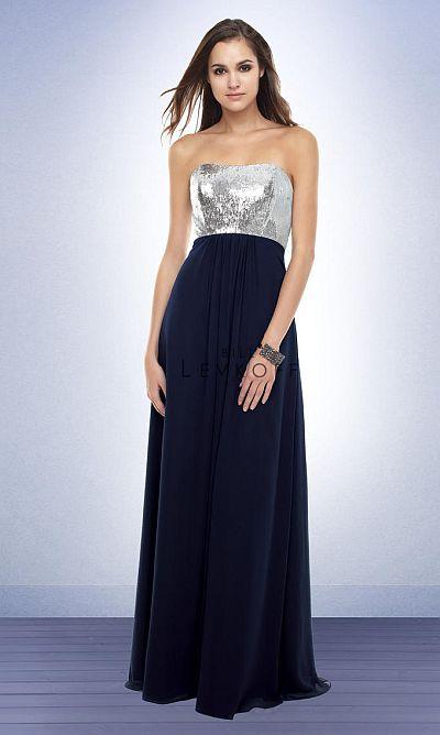 Bill Levkoff Long Sequin Top Bridesmaid Dress 161: French Novelty
