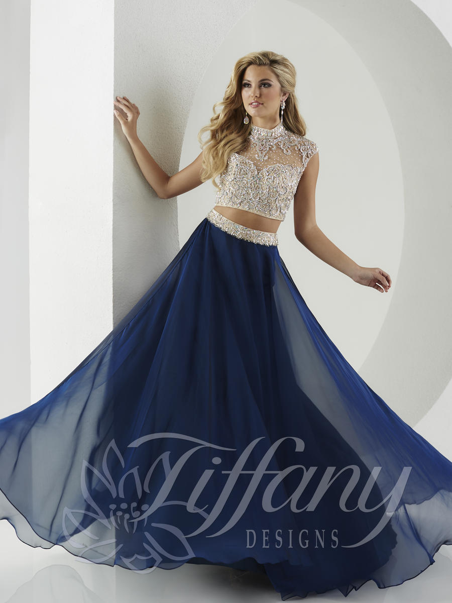 Tiffany Designs 16135 Choker 2pc Prom Gown French Novelty