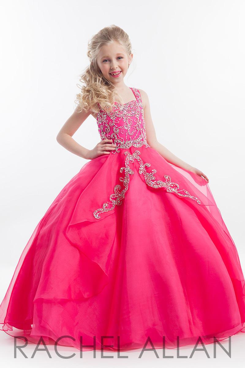 Rachel Allan Perfect Angels 1617 Girls Organza Pageant Dress: French ...