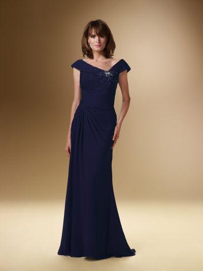 18c96fa268e Rina Di Montella 1621 Cap Sleeve Mother of the Bride Dress  French Novelty