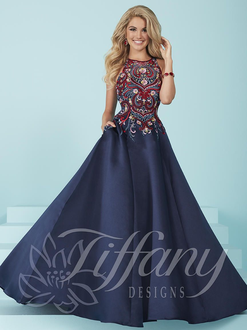 Tiffany Designs 16213 Prom Dress With Pockets French Novelty