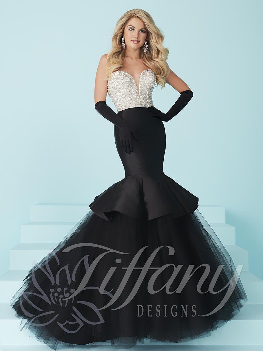 Tiffany Designs 16217 Crystal Beaded Prom Dress French
