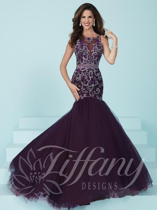 9ea32a2e40b Tiffany Designs 16218 Sparkle Tulle Mermaid Dress  French Novelty