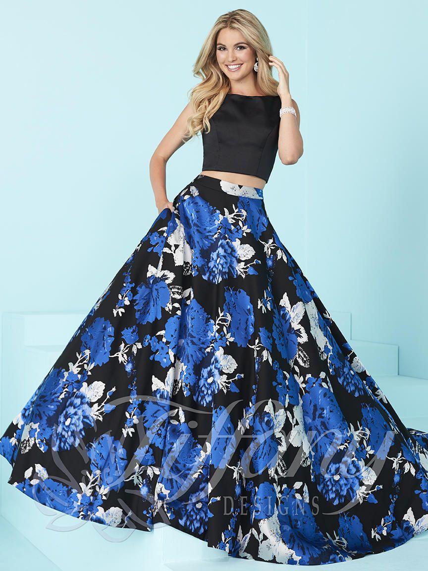 Tiffany Blue Two Piece Prom Dresses