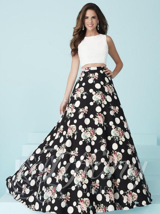 61e7d531ea28 Tiffany Designs 16238 Print 2pc Prom Dress: French Novelty