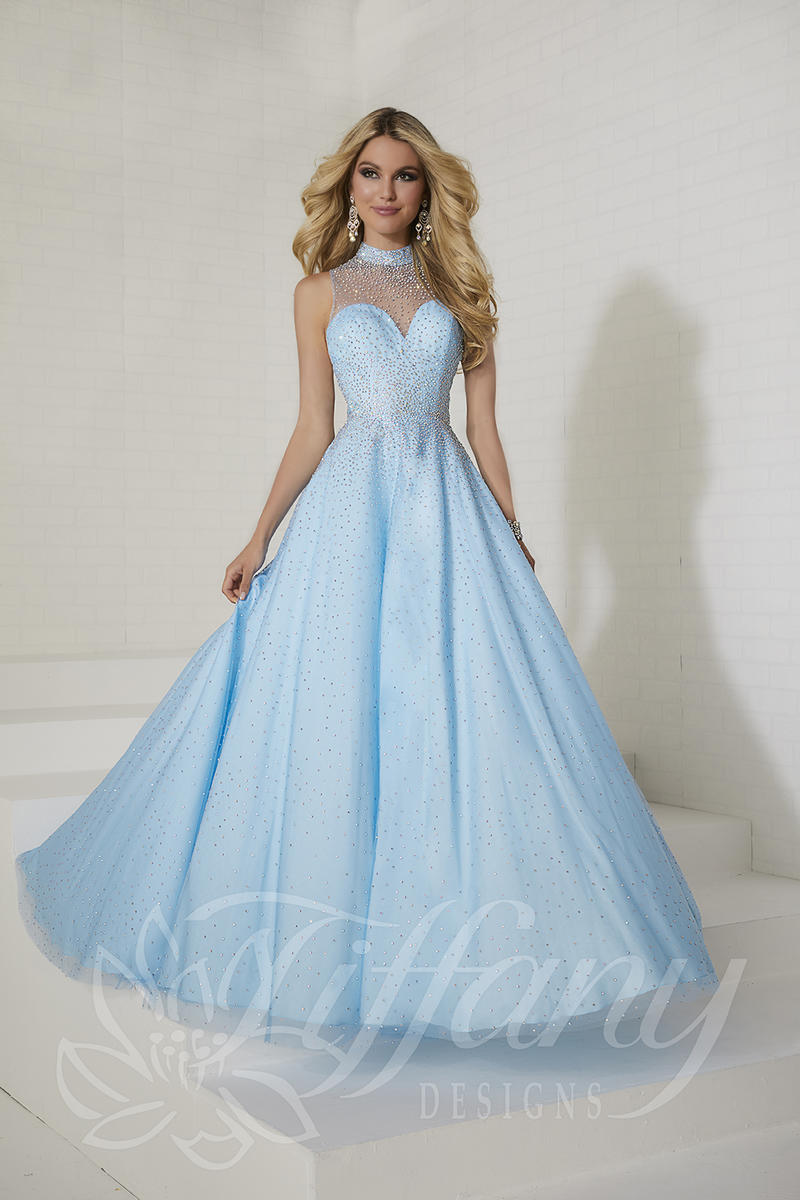 Tiffany Designs 16261 Scatter Beaded Prom Dress: French Novelty