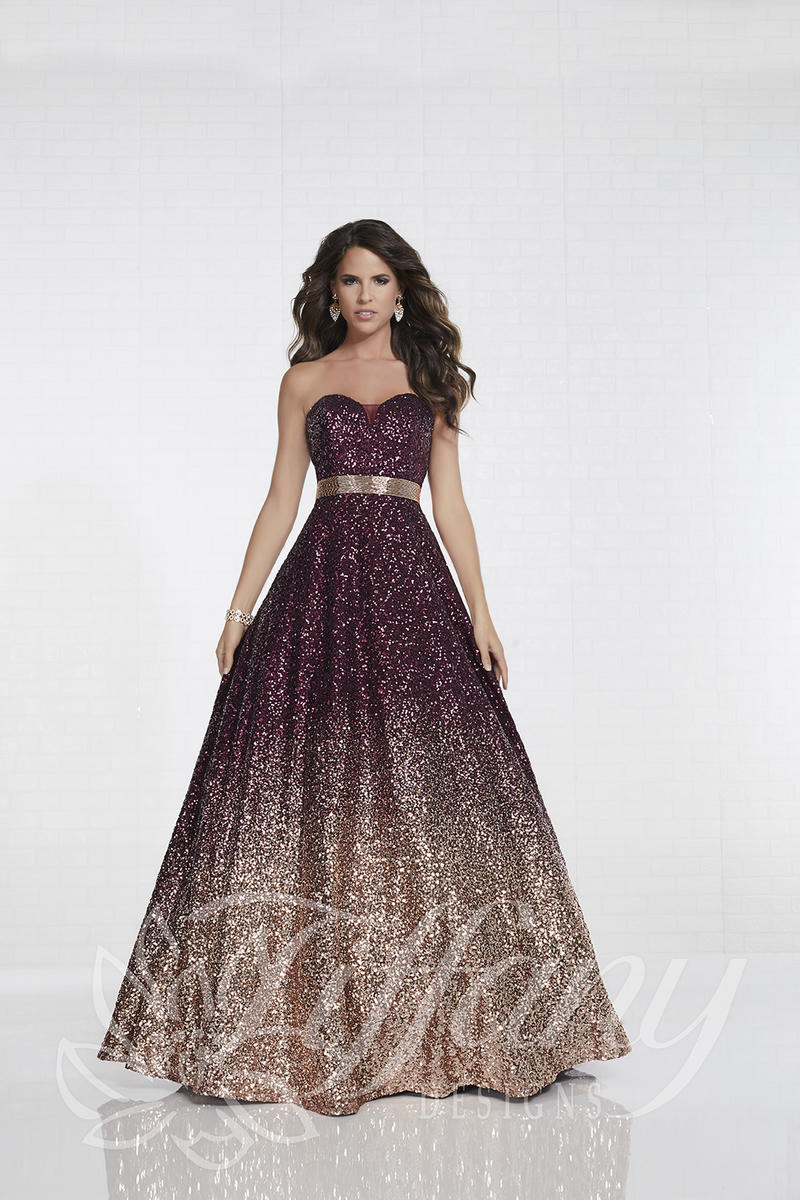 Tiffany Designs 16264 Ombre Sequin Prom Gown