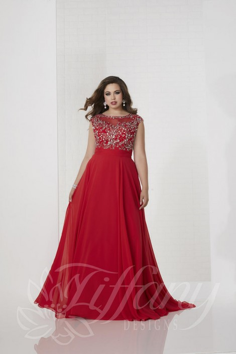 Tiffany Designs 16319 Beautiful Plus Size Prom Dress French Novelty