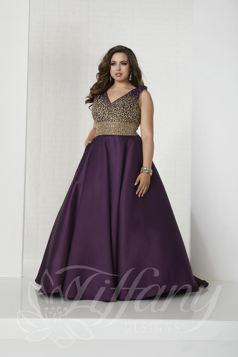 Tiffany Designs 16322 Womens Size Prom Dress: French Novelty