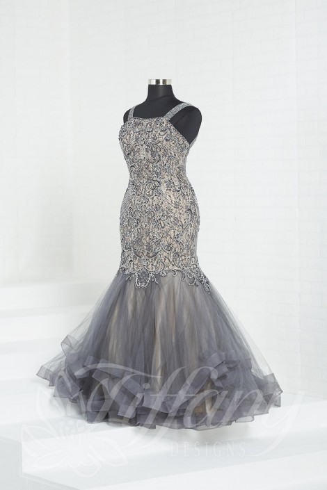 Tiffany Designs 16323 Plus Size Beaded Mermaid Dress: French Novelty