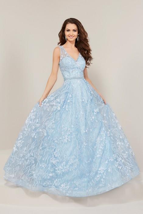 Tiffany Blue Lace Prom Dress