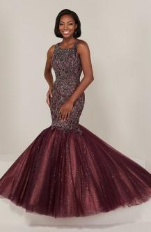 79a2a0729f8 Tiffany Designs 16370 Sparkle Tulle Mermaid Dress