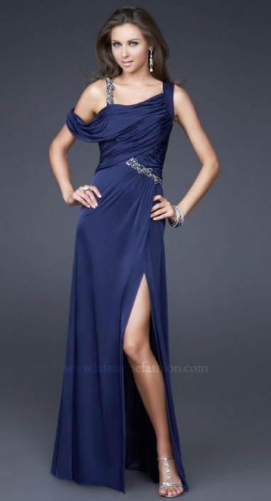 Dancing With The Stars By La Femme Navy Blue Prom Dress 16394