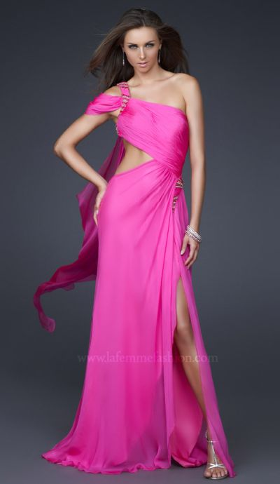 Dancing with the Stars by La Femme Pink Silk Evening Dress 16505 ...
