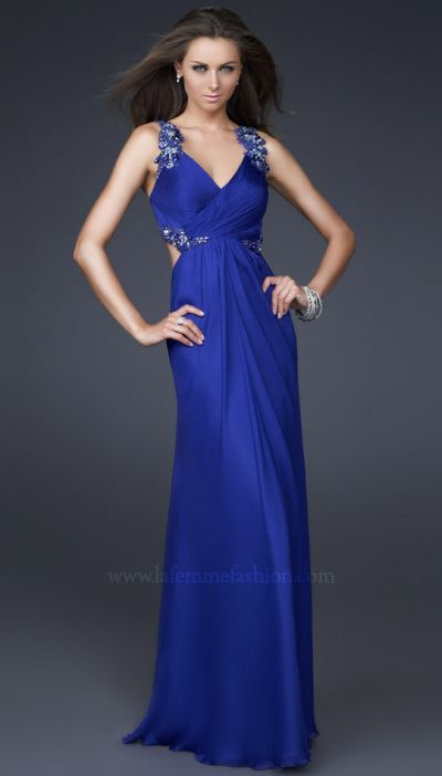 Dancing With The Stars By La Femme Silk Chiffon Prom Dress 16507