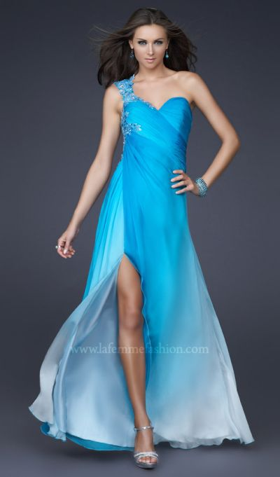 Dancing With The Stars By La Femme Aqua Ombre Prom Dress