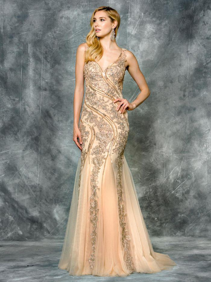 Mermaid Wedding Dresses Ottawa : Colors beaded mermaid prom dress french novelty