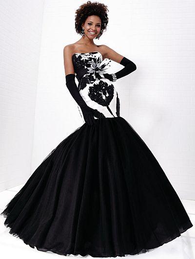 Similiar Black And White Mermaid Prom Dress Keywords
