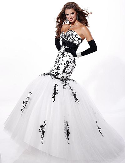 Tiffany Designs Lace and Tulle Mermaid Prom Dress 16669: French ...