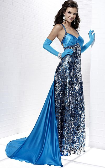 Tiffany prints prom dresses - Dress on sale
