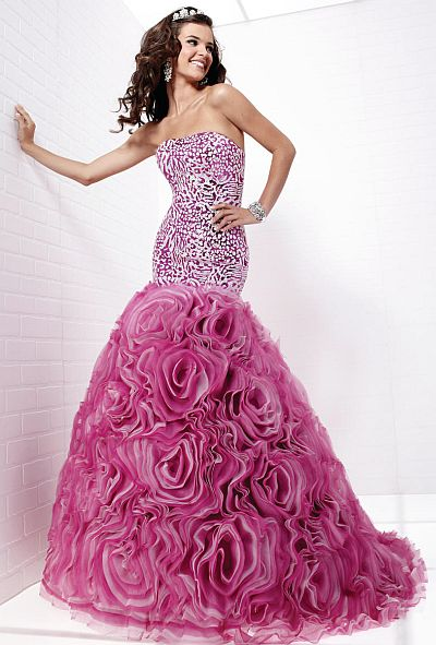 Tiffany Designs Leopard Sequin Mermaid Rosette Prom Dress 16710 ...