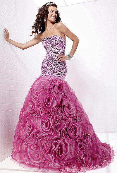 Tiffany Designs Leopard Sequin Mermaid Rosette Prom Dress 16710 ...