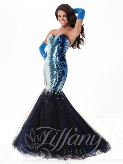 Tiffany 16783 Ombre Sequin Mermaid Dress French Novelty