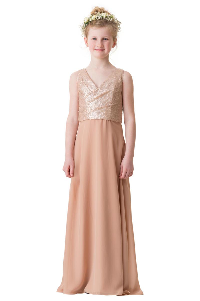 Bari jay 1680jr junior bridesmaid dress with sequins for Junior dresses for wedding