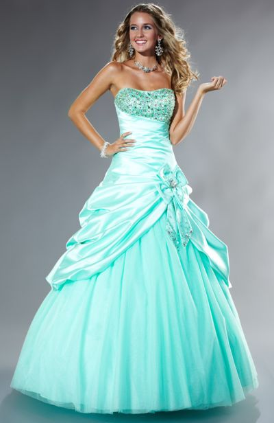 Tiffany Designs Presentation Satin Pickup Ball Gown Prom