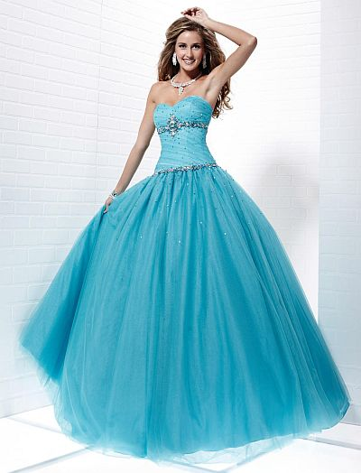 Tiffany Designs Presentation Ball Gown with Heavy AB Stones 16872 ...