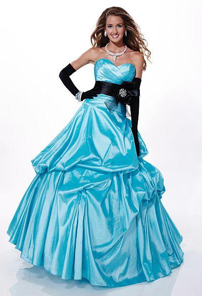 Tiffany Designs Presentation Taffeta Pickup Prom Ball Gown 16874 French Novelty