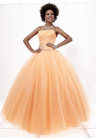 2c817422563 Tiffany Designs Presentation Tulle Ball Gown with Heavy Beading 16878  French  Novelty