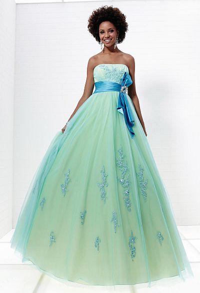 Tiffany Designs Presentation Empire Tulle Prom Ball Gown 16884 ...