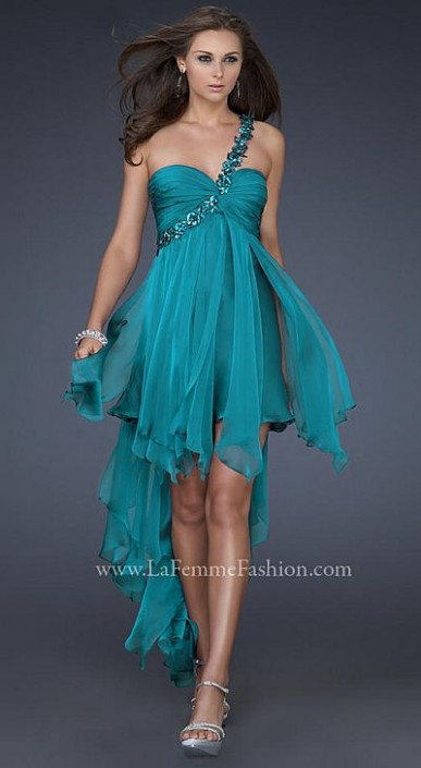 High Low Prom Dresses with Straps
