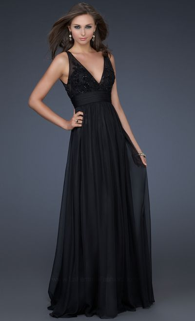Elegant and Classy Long Chiffon Evening Dress La Femme 16992 ...